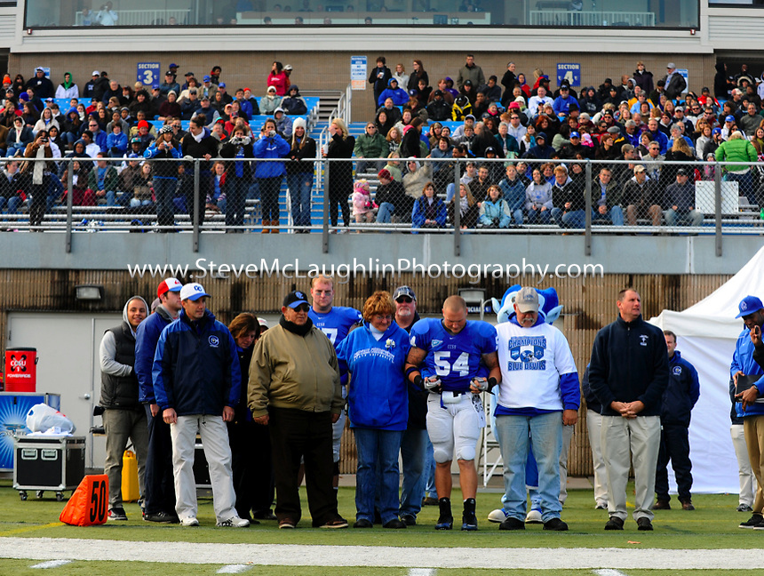 The Central Connecticut football team claimed its share of the Northeast Conference title with a 23-13 home victory over St. Francis (PA) on Saturday afternoon.  The win is the 14th straight at home for CCSU, the third-longest home win streak in the country.