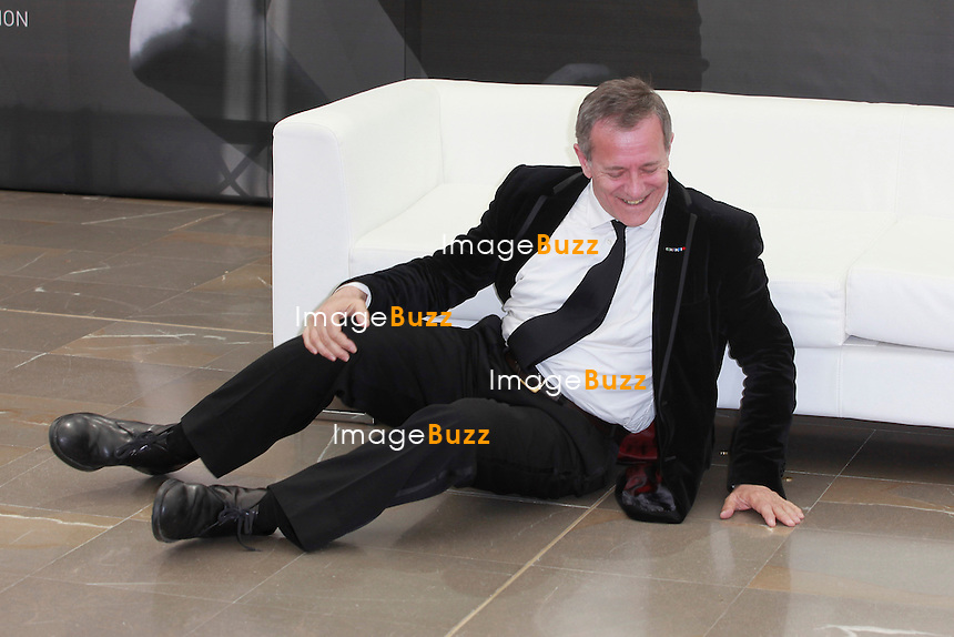 Francis Huster, funny poses during the photocall at the 52nd Monte Carlo TV Festival on June 11, 2012 in Monte-Carlo, Monaco.