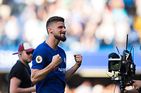 Chelsea's Olivier Giroud celebrates at full time <br /> <br /> Photographer Craig Mercer/CameraSport<br /> <br /> The Premier League - Chelsea v Liverpool - Sunday 6th May 2018 - Stamford Bridge - London<br /> <br /> World Copyright &copy; 2018 CameraSport. All rights reserved. 43 Linden Ave. Countesthorpe. Leicester. England. LE8 5PG - Tel: +44 (0) 116 277 4147 - admin@camerasport.com - www.camerasport.com