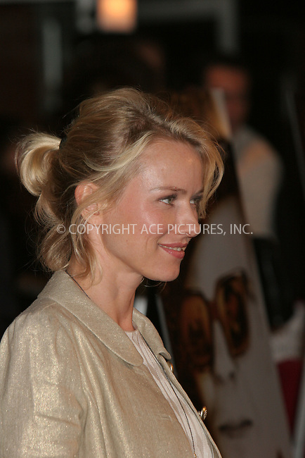 WWW.ACEPIXS.COM . . . . .  ....October 9, 2006, New York City. ....Naomi Watts attends the Premiere of 'Infamous'. ....Please byline: NANCY RIVERA- ACE PICTURES.... *** ***..Ace Pictures, Inc:  ..Philip Vaughan (212) 243-8787 or (646) 769 0430..e-mail: info@acepixs.com..web: http://www.acepixs.com