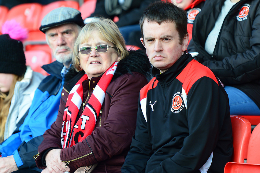 Fleetwood Town fans look on<br /> <br /> Photographer Richard Martin-Roberts/CameraSport<br /> <br /> The EFL Sky Bet League One - Fleetwood Town v Portsmouth - Saturday 29th December 2018 - Highbury Stadium - Fleetwood<br /> <br /> World Copyright © 2018 CameraSport. All rights reserved. 43 Linden Ave. Countesthorpe. Leicester. England. LE8 5PG - Tel: +44 (0) 116 277 4147 - admin@camerasport.com - www.camerasport.com