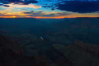 Grand Canyon And Colorado River Landscape At Sunset, Arizona