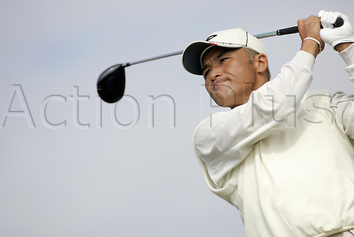 16 July 2004: Japanese golfer Shigeki Maruyama (JPN) drives from the 13th tee during the second round of The Open Championship played at Royal Troon, Scotland. Photo: Glyn Kirk/Action Plus...golf golfer driver wood driving 040716.British