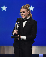 SANTA MONICA - JANUARY 13: Elsie Fisher accepts Best Young Actor/Actress for 'Eighth Grade' on the 24th Annual Critics' Choice Awards at the Barker Hangar on January 13, 2019, in Santa Monica, California. (Photo by Frank Micelotta/PictureGroup)