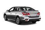 Car pictures of rear three quarter view of 2017 Nissan Sentra SR 4 Door Sedan Angular Rear