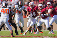 STANFORD, CA - OCTOBER 25, 2014:  Austin Hooper during Stanford's game against Oregon State. The Cardinal defeated the Beavers 38-14.