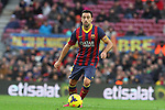 05.01.2014 Barcelona, Spain. La Liga day 18. Picture show Xavi Hernandez in action during game between FC Barcelona against Elche at Camp Nou