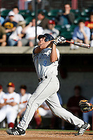Jordan Abruzzo of the University of San Diego Toreros during a game against the USC Trojans at Dedeaux Field on February 10, 2007 in Los Angeles, California. (Larry Goren/Four Seam Images)