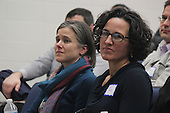 Kenwood Academy hosted a Generation All Speaker Series event Wednesday evening. The topic of the series was Equality and Urban School Improvement.<br /> <br /> 9562 &ndash; Hillary Conklin and Paula McAvoy attended the event.