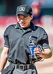 5 September 2016: MiLB Umpire So Yamauchi works home plate during a game between the Vermont Lake Monsters and the Lowell Spinners at Centennial Field in Burlington, Vermont. The Monsters defeated the Spinners 9-5 to close out their 2016 NY Penn League season. Mandatory Credit: Ed Wolfstein Photo *** RAW (NEF) Image File Available ***