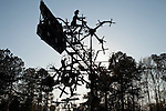 April 2, 2010. Lucama, North Carolina.. Photographs of Vollis Simpson, a 91 year old former farm equipment repairman whose windmill-like large whirlygig sculptures have become a senasation on the folk/outsider art circuit..