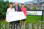 Presenting a cheque to Console in Kerry are <br /> L-R Julie Gaffey, Paul Kelly (Console founder) and Anne Wrenn.