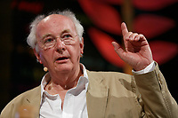 Pictured: Novelist Philip Pullman.<br /> Re: Hay Festival at Hay on Wye, Powys, Wales, UK. Saturday 02 June 2018