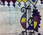 ANTIQUE DHANIYO PANEL WITH DOMESTIC MOTIFS EMBROIDERED & MIRRORWORK. NOMADIC TRIBE, KUTCH GUJARAT, INDIA