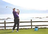160211 Connecticut's JJ Henry on 18 during Thursday's First  Round at The AT&T National Pro Am at The Pebble Beach Golf Links in Carmel, California. (photo credit : kenneth e. dennis/kendennisphoto.com)