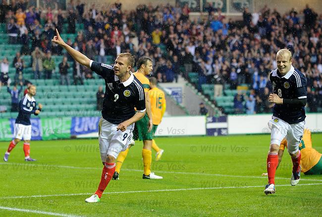 Jordan Rhodes celebrates his goal