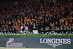 Anne-Sophie Godart of France riding Vidretta m de Bellignies in action during the Longines Speed Challenge competition as part of the Longines Hong Kong Masters on 13 February 2015, at the Asia World Expo, outskirts Hong Kong, China. Photo by Victor Fraile / Power Sport Images