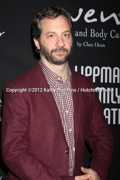 """LOS ANGELES - OCT 26:  Judd Apatow arrives at """"The Pink Party '12"""" at Hanger 8 on October 26, 2012 in Santa Monica, CA"""