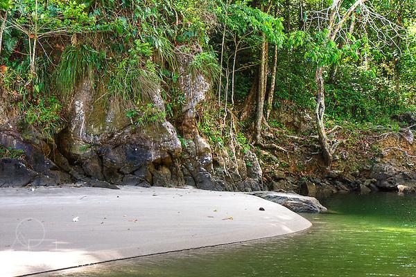 Sandbank at the mouth of Shark river