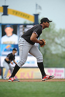 Erie Sea Wolves infielder Francisco Martinez (20) during game against the Trenton Thunder at ARM & HAMMER Park on May 15, 2014 in Trenton, NJ.  Erie defeated Trenton 4-2.  (Tomasso DeRosa/Four Seam Images)