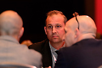 Philadelphia, PA - Thursday January 18, 2018: Scott Vallow during the 2018 NWSL College Draft at the Pennsylvania Convention Center.