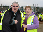 Paddy and Ann Monaghan who took part in the St Mary's Drumcar 5K run on Bettystown beach. Photo:Colin Bell/pressphotos.ie