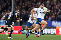 Matt Banahan of Bath Rugby goes on the attack. Aviva Premiership match, between Exeter Chiefs and Bath Rugby on December 2, 2017 at Sandy Park in Exeter, England. Photo by: Patrick Khachfe / Onside Images
