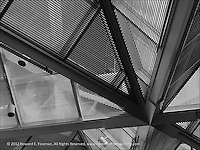 """This architectural abstract is one of three of my monochromes in a recent exhibit called """"Light And Shadow"""" that was on display at NewTV's art gallery thru Nov'13."""