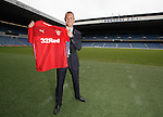 Kenny Miller at Ibrox Stadium as he signs for Rangers for the third time