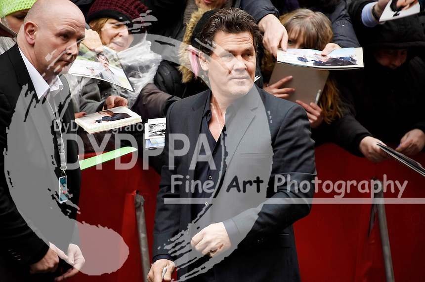 Josh Brolin arrives for the 'Hail Caesar!' press conference at the 66th Berlin International Film Festival / Berlinale 2016 on February 11, 2016 in Berlin, Germany.