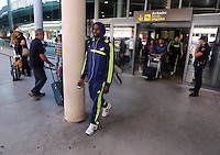 Wednesday 18 September 2013<br /> Pictured: Roland Lamah arrives at Valencia Airport.<br /> Re: Swansea City FC players and staff travelling to Spain for their UEFA Europa League game against Valencia.
