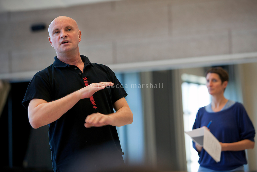"Jean-Christophe Maillot, Director of the Ballets de Monte Carlo, oversees rehearsals of production ""LAC (After Swan Lake)"" at the headquarters of the Ballets de Monte Carlo, Beausoleil, France, 27 February 2014"