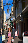 Shoppers in Union Passage alleyway, Bath, Somerset, England