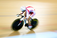 06 DEC 2014 - STRATFORD, LONDON, GBR - Urszula Los (POL) from Poland races around the track during the women's Individual Sprint Time Trial Qualification round at the 2014 UCI Track Cycling World Cup  in the Lee Valley Velo Park in Stratford, London, Great Britain (PHOTO COPYRIGHT © 2014 NIGEL FARROW, ALL RIGHTS RESERVED)
