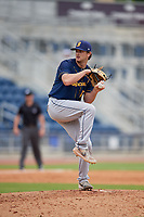 Montgomery Biscuits relief pitcher Matt Krook (31) during a Southern League game against the Biloxi Shuckers on May 8, 2019 at MGM Park in Biloxi, Mississippi.  Biloxi defeated Montgomery 4-2.  (Mike Janes/Four Seam Images)