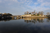 Pictured: Cardigan Castle and Teifi river<br /> Re: The town of Cardigan in west Wales will be temporarily renamed Jumper tomorrow (Thursday).