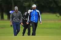 Bradley Neil (SCO) and Chris Selfridge (NIR) on the 10th fairway during Round 2 of the Bridgestone Challenge 2017 at the Luton Hoo Hotel Golf &amp; Spa, Luton, Bedfordshire, England. 08/09/2017<br /> Picture: Golffile | Thos Caffrey<br /> <br /> <br /> All photo usage must carry mandatory copyright credit     (&copy; Golffile | Thos Caffrey)
