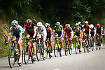 The breakaway group in action during Stage 16 of the 2018 Tour de France running 218km from Carcassonne to Bagneres-de-Luchon, France. 24th July 2018. <br /> Picture: ASO/Pauline Ballet | Cyclefile<br /> All photos usage must carry mandatory copyright credit (© Cyclefile | ASO/Pauline Ballet)
