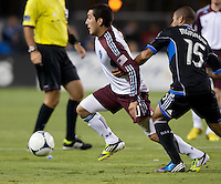 Santa Clara, California - Saturday August 25th, 2012: Colorado Rapids Martin Rivero in action during a game against San Jose Earthquakes at Buck Shaw Stadium, Stanford, Ca    San Jose Earthquakes defeated Colorado Rapids 4 - 1