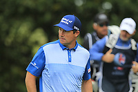 Padraig Harrington (IRL) nearly gets hit by a ball on the 4th tee during Round 2 of the Sky Sports British Masters at Walton Heath Golf Club in Tadworth, Surrey, England on Friday 12th Oct 2018.<br /> Picture:  Thos Caffrey | Golffile<br /> <br /> All photo usage must carry mandatory copyright credit (&copy; Golffile | Thos Caffrey)