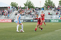 Boyds, MD - Saturday June 03, 2017: Janine Beckie, Meggie Dougherty Howard during a regular season National Women's Soccer League (NWSL) match between the Washington Spirit and Houston Dash at Maureen Hendricks Field, Maryland SoccerPlex.