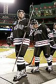 Greg Coburn (Union - 20), Cole Ikkala (Union - 23) - The Union College Dutchmen defeated the Harvard University Crimson 2-0 on Friday, January 13, 2012, at Fenway Park in Boston, Massachusetts.