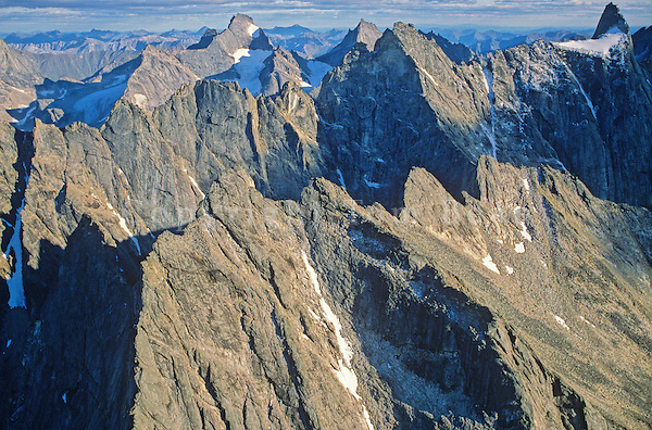 Arrigetch Peaks in the Brooks Range at Gates of the Arctic National Park, Alaska, aerial view, TomBean_Pix_0728.