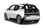 Car pictures of rear three quarter view of 2017 BMW i3 Range-Extender 5 Door Hatchback Angular Rear