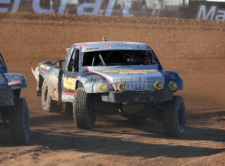 Apr 17, 2011; Surprise, AZ USA; LOORRS driver Greg Adler (10) during round 4 at Speedworld Off Road Park. Mandatory Credit: Mark J. Rebilas-