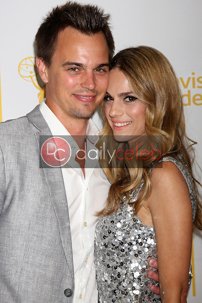 LOS ANGELES - JUN 19:  Darin Brooks, Kelly Kruger at the ATAS Daytime Emmy Nominees Reception at the London Hotel on June 19, 2014 in West Hollywood, CA