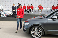 Varane participates and receives new Audi during the presentation of Real Madrid's new cars made by Audi in Madrid. December 01, 2014. (ALTERPHOTOS/Caro Marin) /Nortephoto