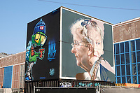 Nederland - Amsterdam - 24 maart 2018. Ode aan burgemeester Eberhard van der laan op de NDSM-Werf, gemaakt door Kunstenaarsduo Telmo Miel.   Foto Berlinda van Dam Hollandse Hoogte