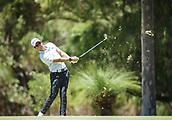 10th February 2018, Lake Karrinyup Country Club, Karrinyup, Australia; ISPS HANDA World Super 6 Perth golf, third round; Lucas Herbert (AUS) on the fairway