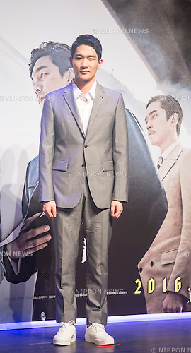 Um Tae-Goo, Aug 4, 2016 : South Korean actor Um Tae-Goo attends a press conference for his new movie, The Age of Shadows, in Seoul, South Korea. The movie is based on the history of the activities of an anti-Japanese armed independence group under the Japanese colonial rule of Korea. (Photo by Lee Jae-Won/AFLO) (SOUTH KOREA)